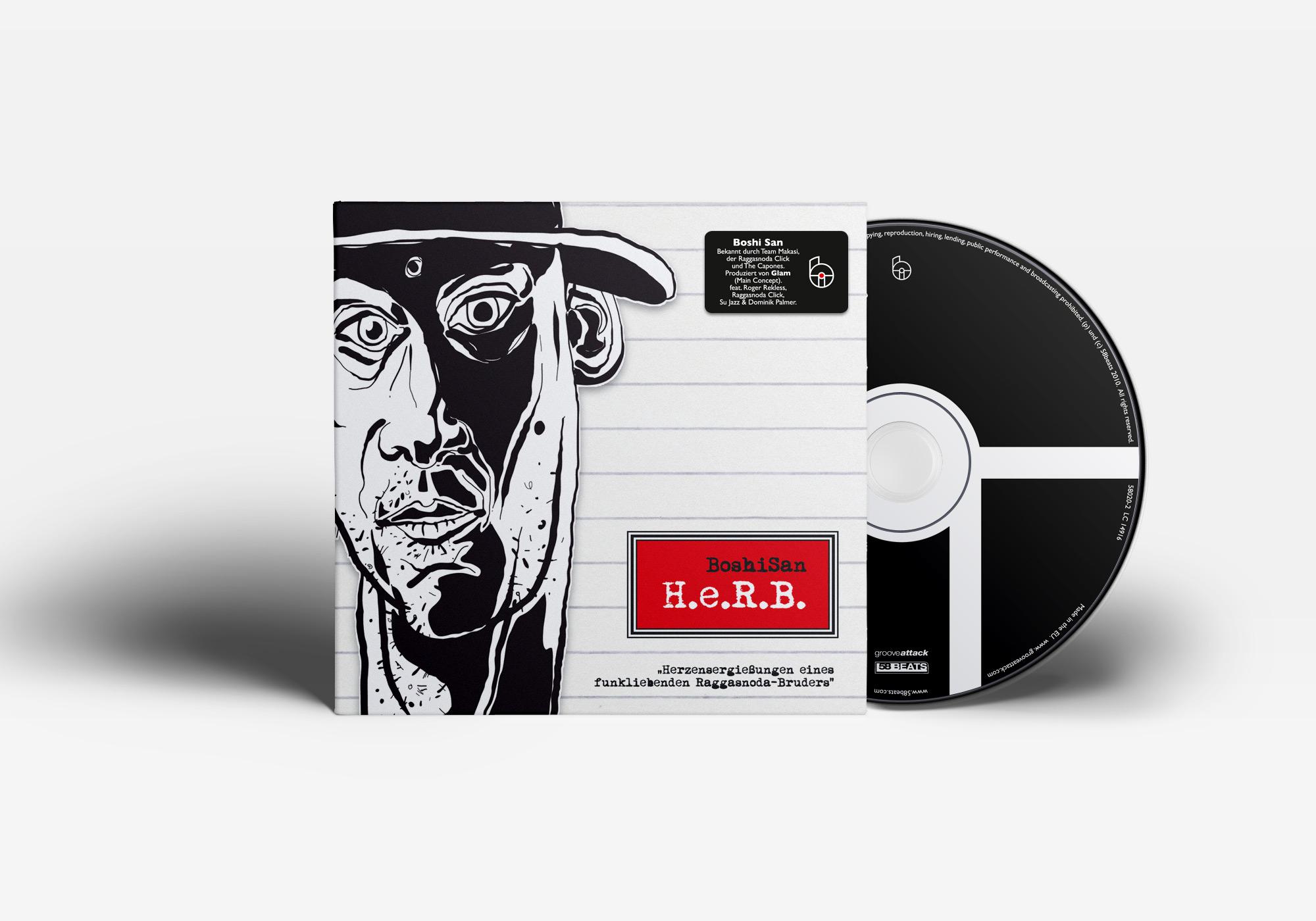 """Das erste Album """"H.e.R.B."""" von Boshi San."""